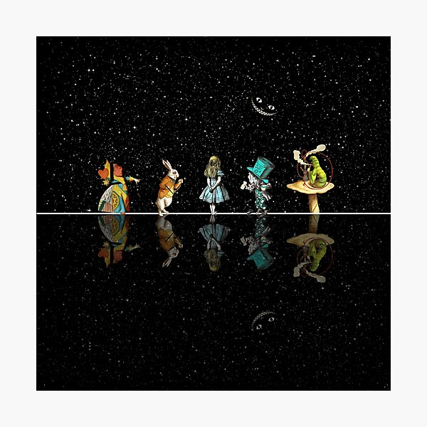 Wonderland Starry Night - Alice In Wonderland Photographic Print
