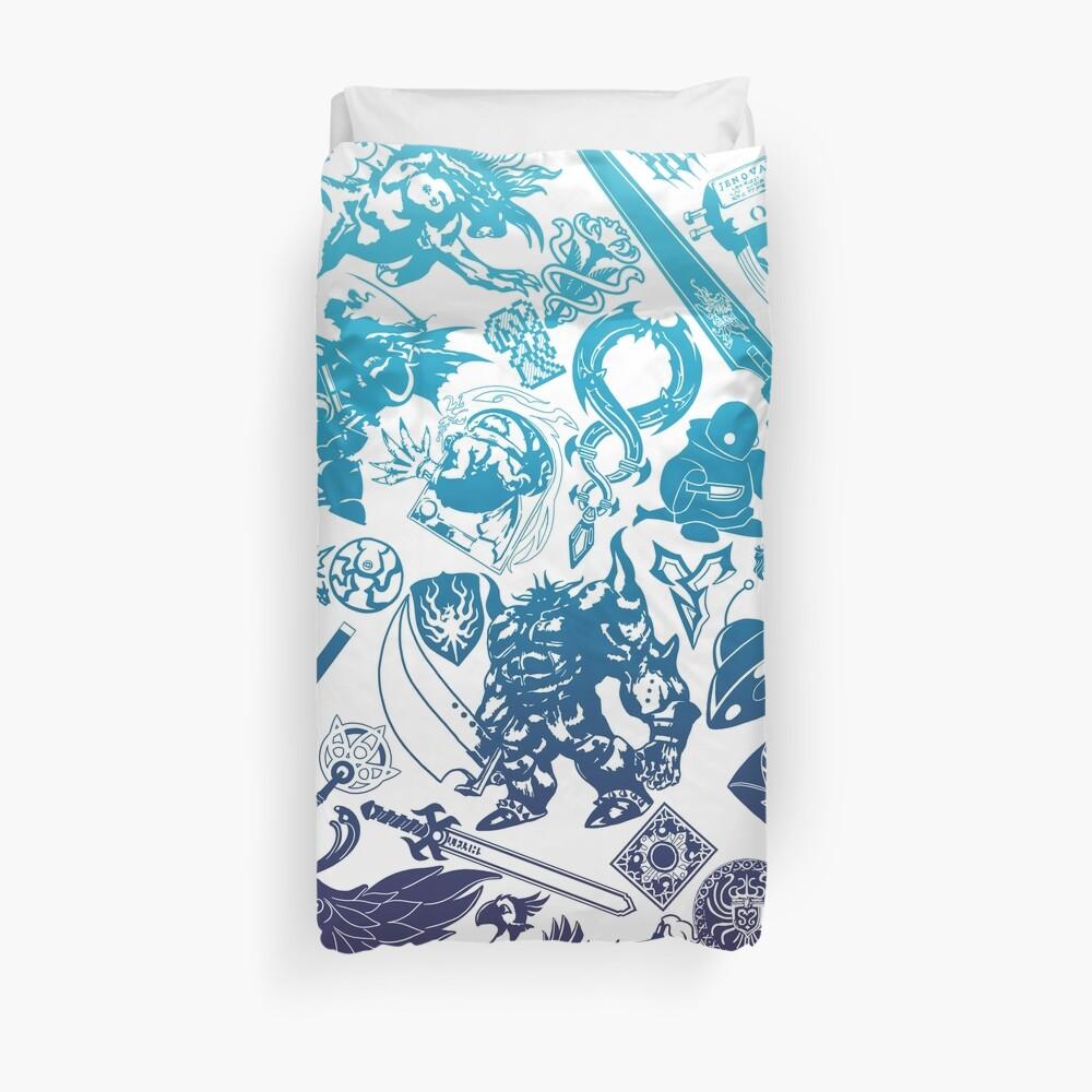 Moogle-verse (blue) Duvet Cover