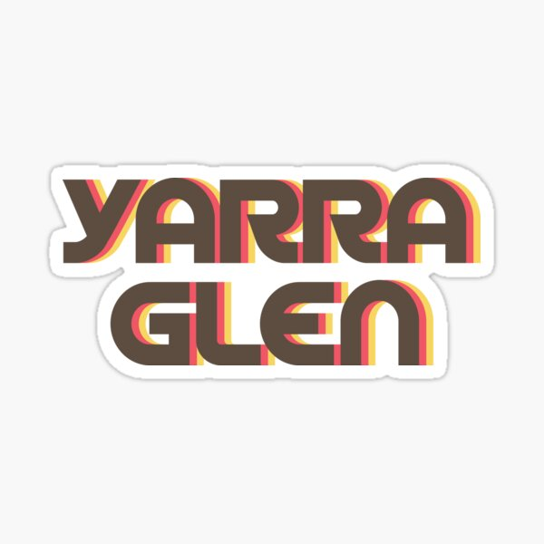 Yarra Glen Retro Sticker