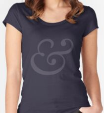 Ampersand dark Women's Fitted Scoop T-Shirt