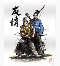 Kirk and Spock Samurai from Star Trek Poster