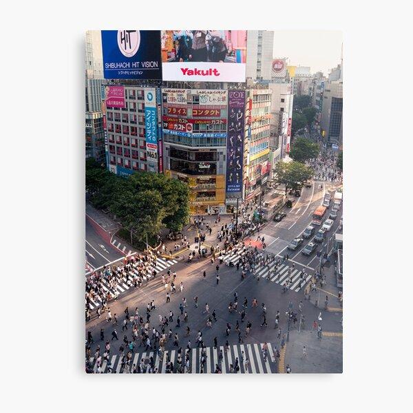 Shibuya Crossing at Dusk Metal Print