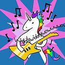 Unicorn Playing Guitar by jezkemp