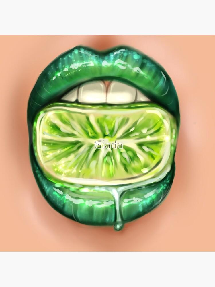 Macro Realistic Beautiful Green Lips Painting Digital Painting Greeting Card By Giada Redbubble