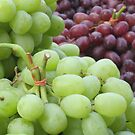 Grapes at a new york market by Anthony Goldman