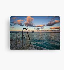 Evening at Merewether Ocean Baths Canvas Print