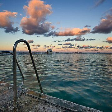 Evening at Merewether Ocean Baths by Snelvis