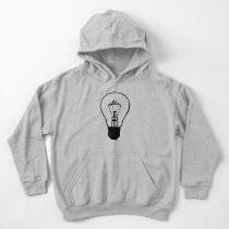Lumineer Light Bulb Logo Kids Pullover Hoodie