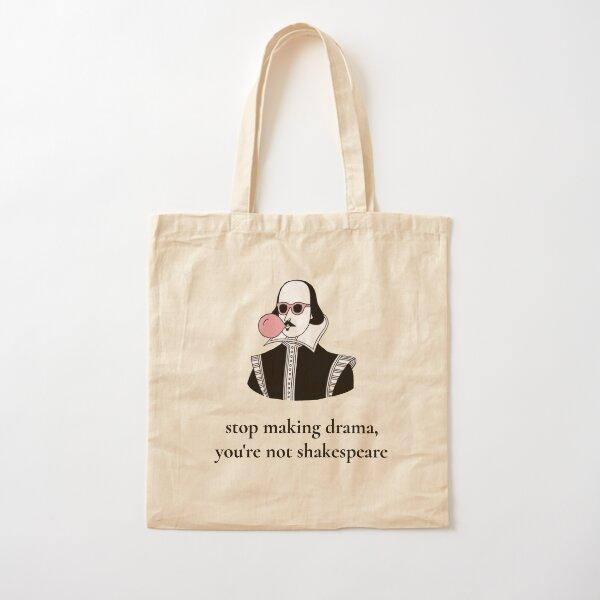 Shakespeare dramático Bolsa de algodón