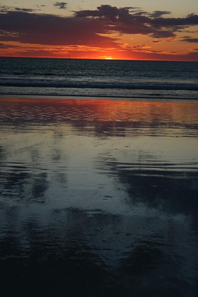 Reflecting At Sunset by shazart