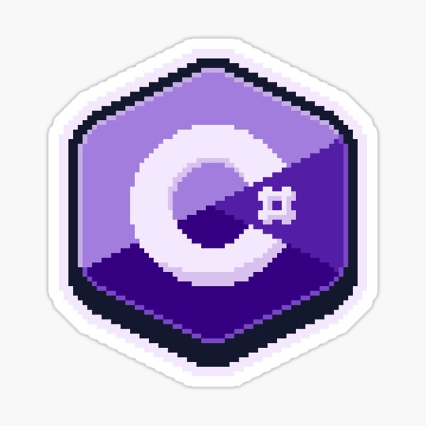 C# Pixel Art Sticker