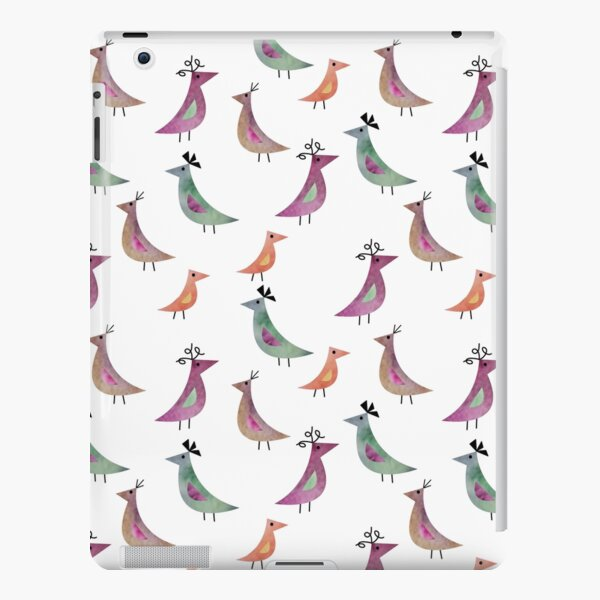 Bird Watercolor White Background Pattern iPad Snap Case