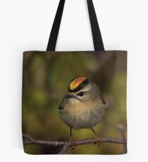 Golden Crowned Kinglet Tote Bag