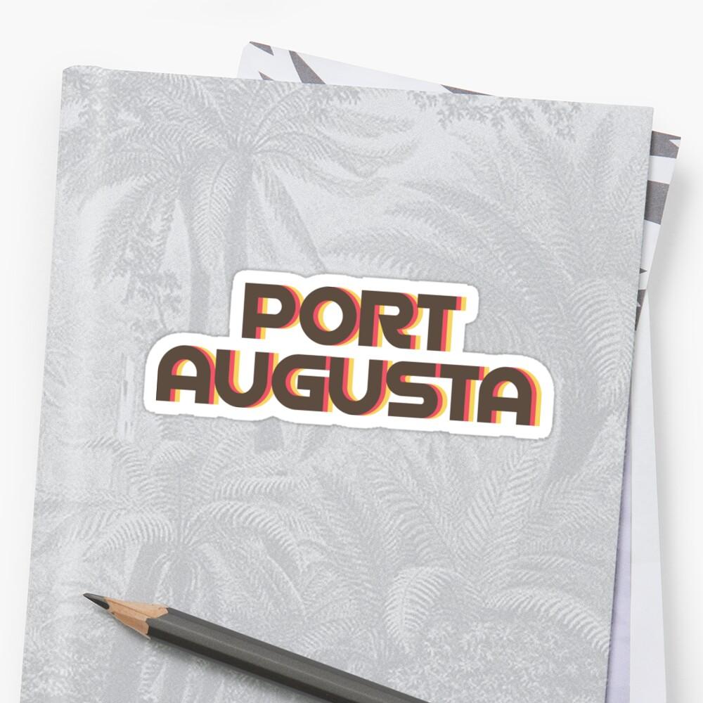 Port Augusta Retro Sticker