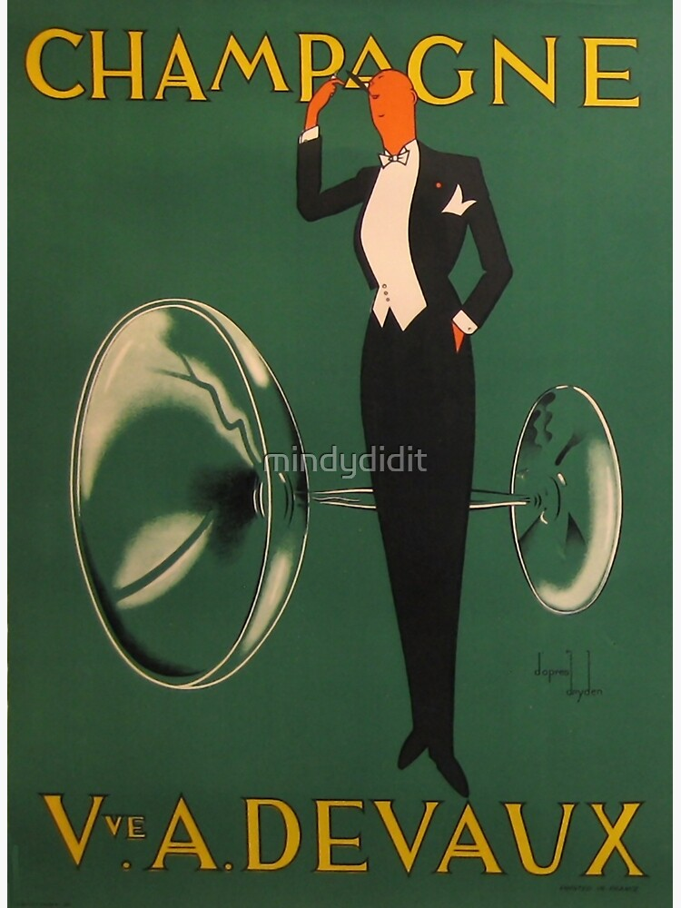 Vintage Champagne Poster by mindydidit