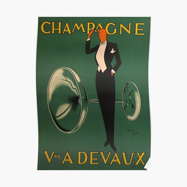 Affiche Champagne Vintage Poster