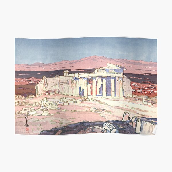 Acropolis by Yoshida Hiroshi Poster