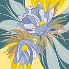 Night Blooming Cerius, Botanical Art, Poster by Marlagill