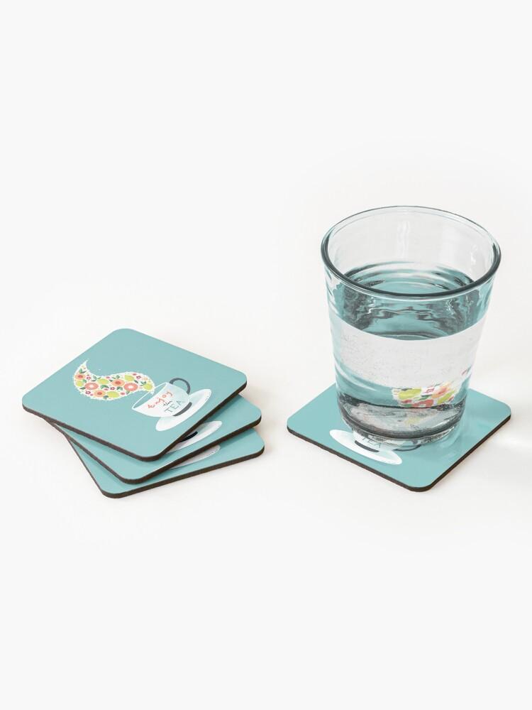 Alternate view of Enjoy the Tea Coasters (Set of 4)