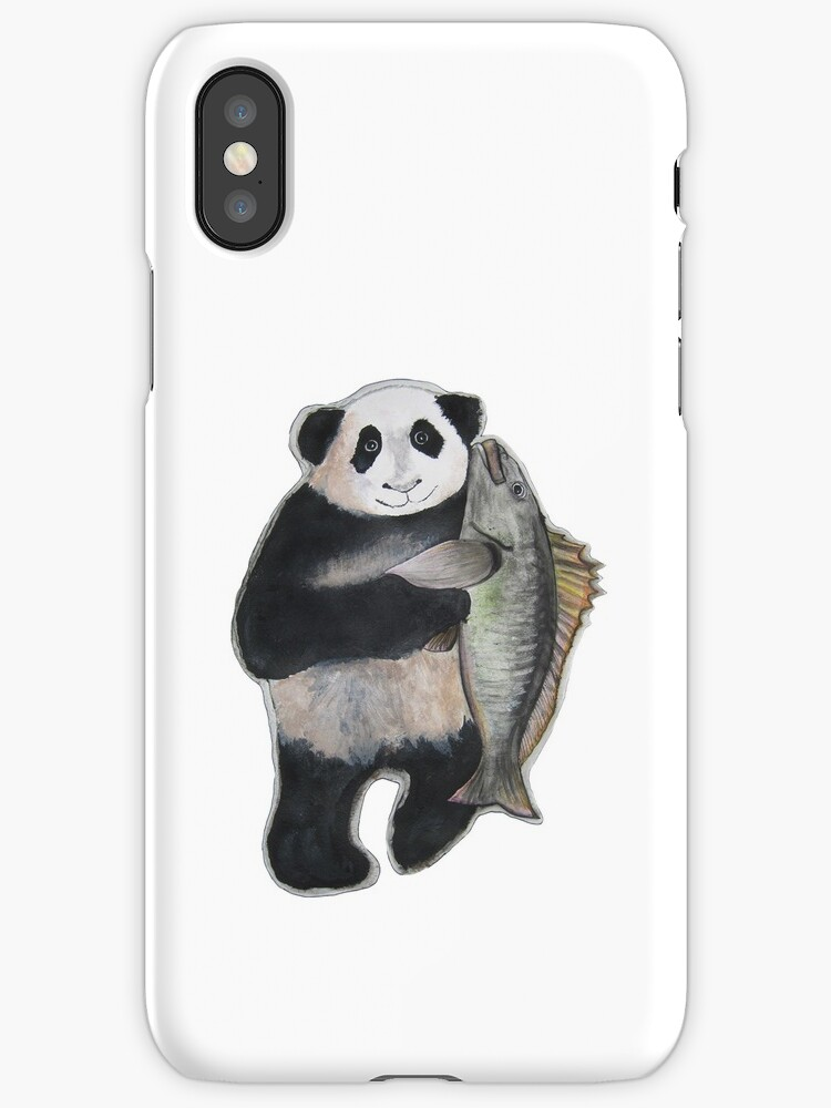 The Panda and the Mangrove iPhone Case by Carrie Jackson