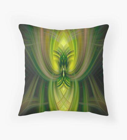 Big and Green Throw Pillow