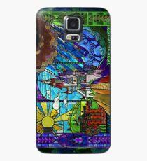 Die Schöne und das Biest - Buntglasburg (seitlich) Hülle & Klebefolie für Samsung Galaxy