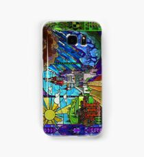 Beauty and the Beast-- stained glass castle (sideways) Samsung Galaxy Case/Skin