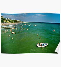 Seaside fun, Bournemouth, UK 1980s Poster