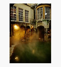 Roman baths in Bath, England. 1980's Photographic Print