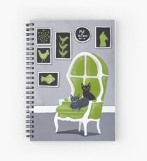 The Cats' Grey Room Spiral Notebook