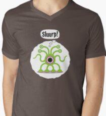 Noisy Little Terrors - 'Sluurp!' cartoon character T-shirt Mens V-Neck T-Shirt