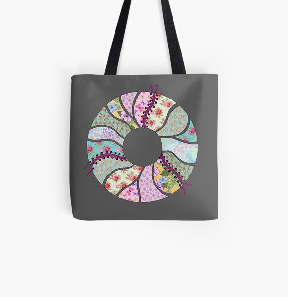 Corseted Circle:  All Over Print Tote Bag