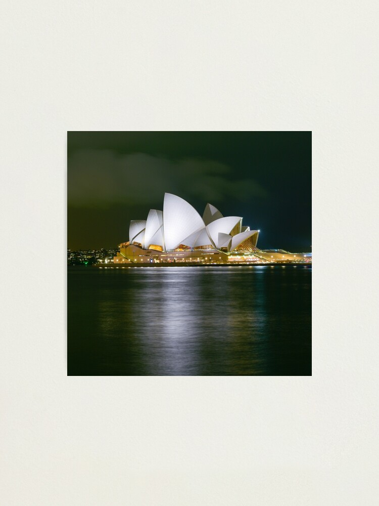 Alternate view of Sidney by night Photographic Print