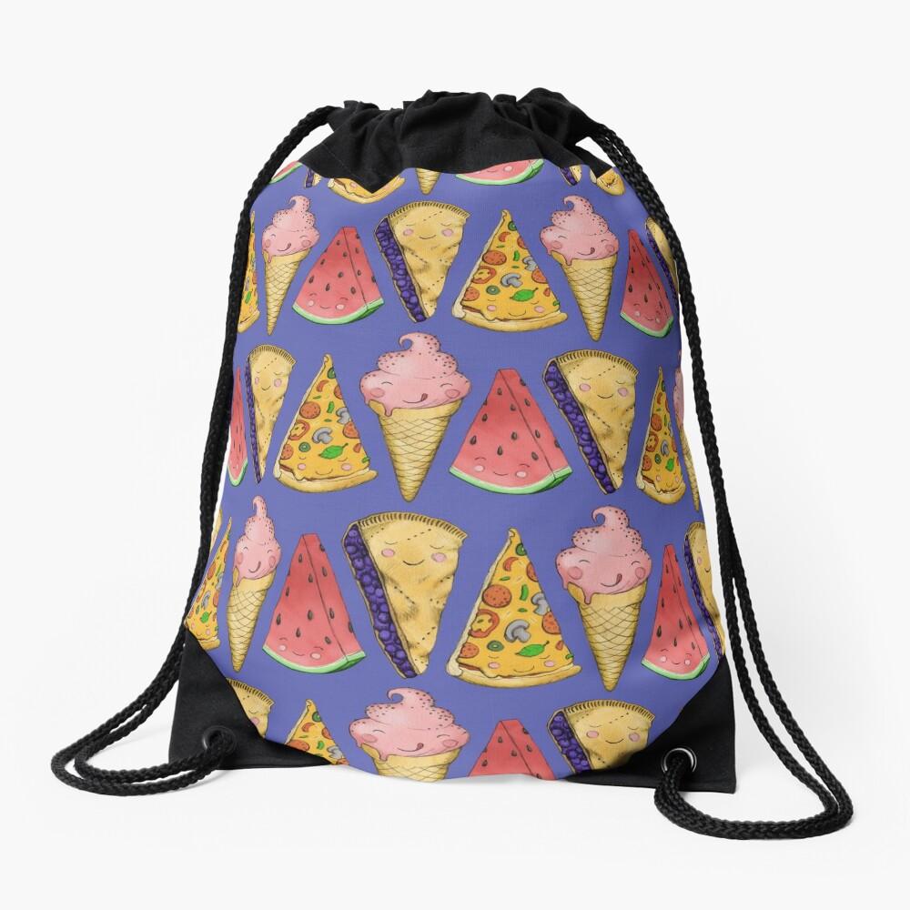 Happy Picnic Triangles Drawstring Bag