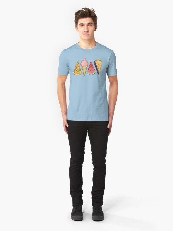 Alternate view of Happy Picnic Triangles Slim Fit T-Shirt