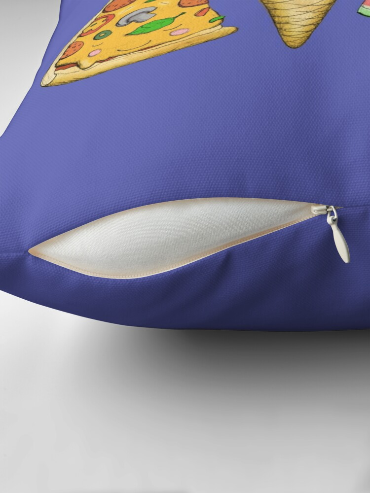 Alternate view of Happy Picnic Triangles Throw Pillow