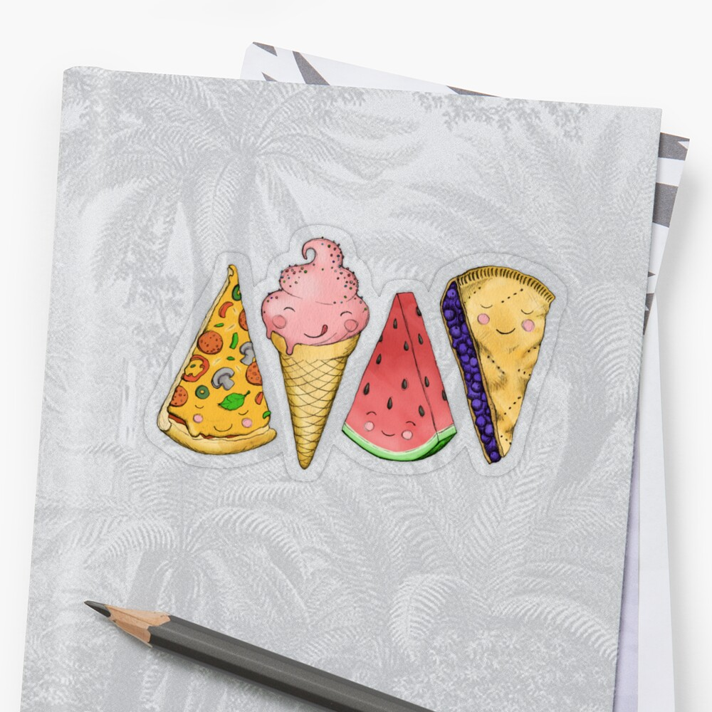 Happy Picnic Triangles Sticker