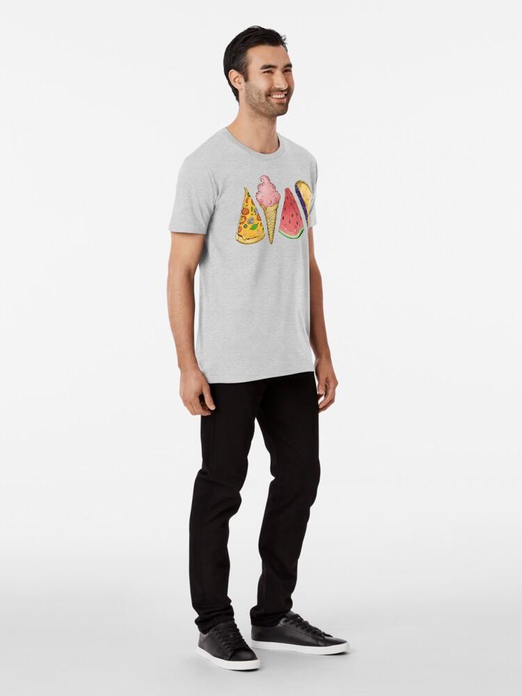 Alternate view of Happy Picnic Triangles Premium T-Shirt