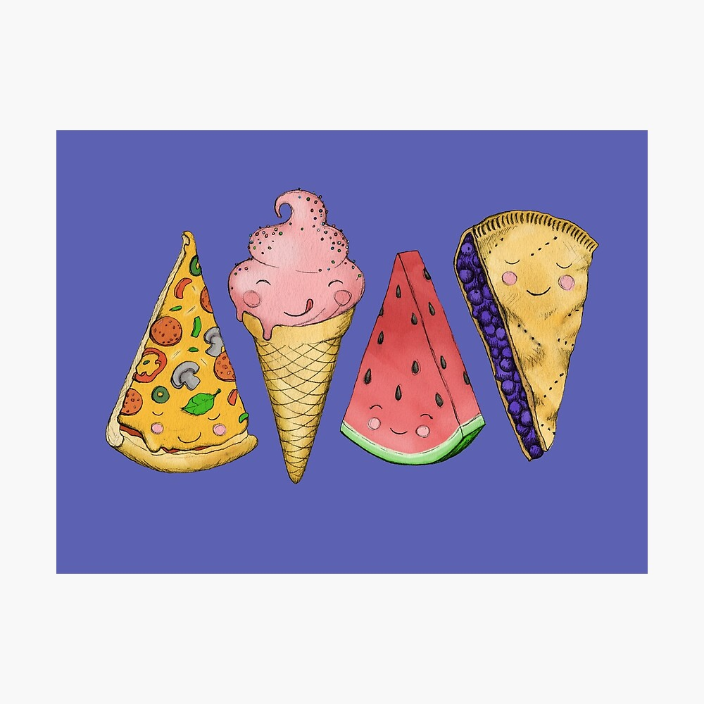 Happy Picnic Triangles Photographic Print