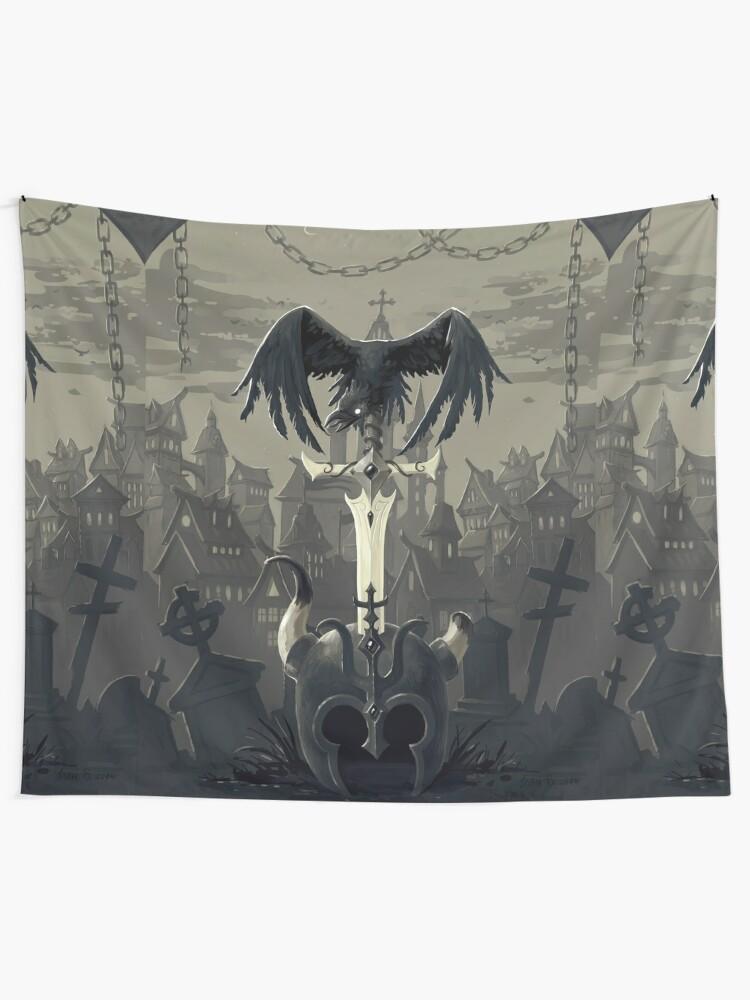 Alternate view of Dark Times Tapestry