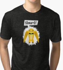 Noisy Little Terrors - 'Skwarrk!' cartoon monster T-shirt Tri-blend T-Shirt