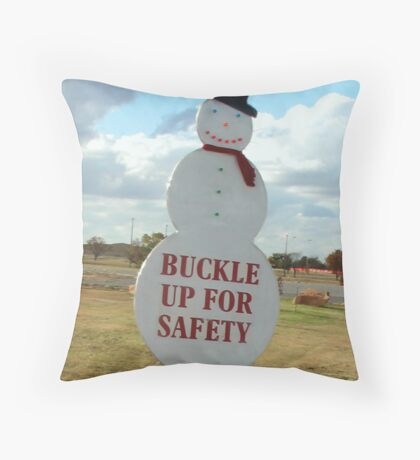Frosty's Advice to Tacky-Town Throw Pillow