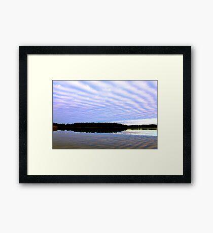 Floating clouds Framed Print