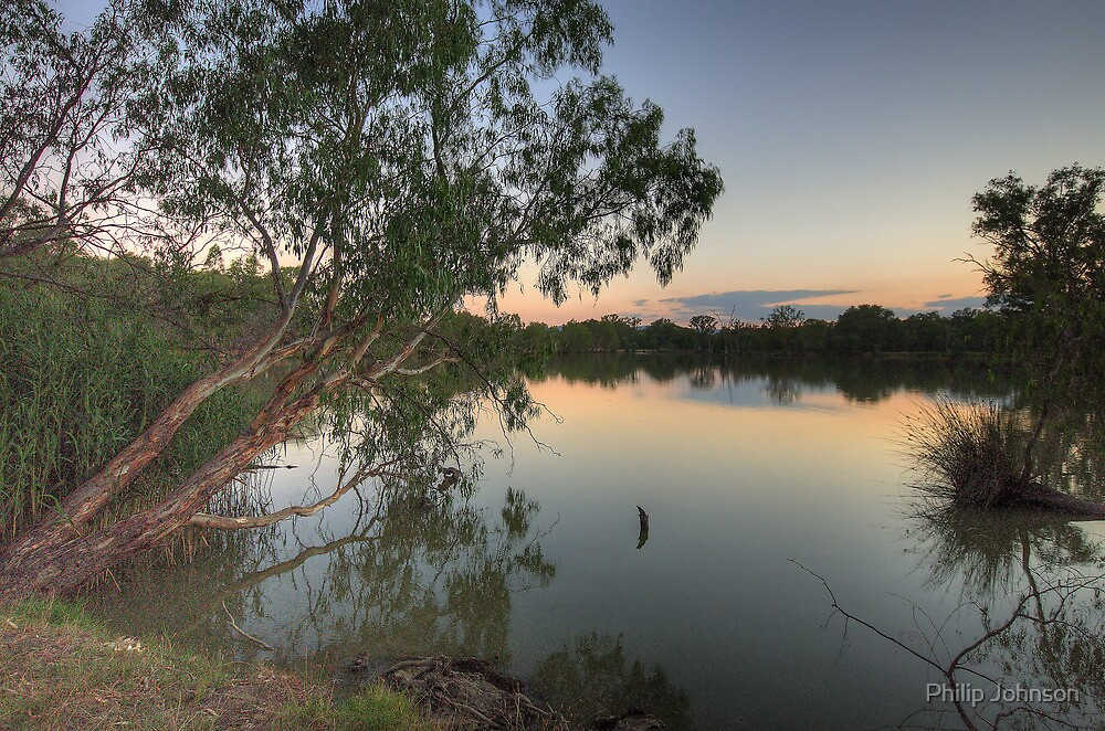 Last Light - Murray River, NSW Australia - The HDR Experience by Philip Johnson