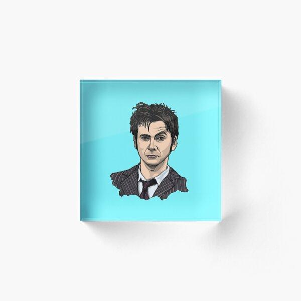 Tenth Doctor Face Acrylic Block