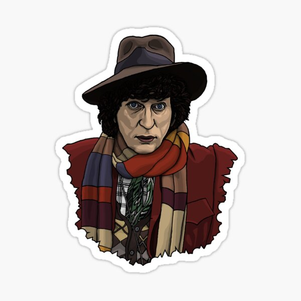 Forth Doctor Face Sticker