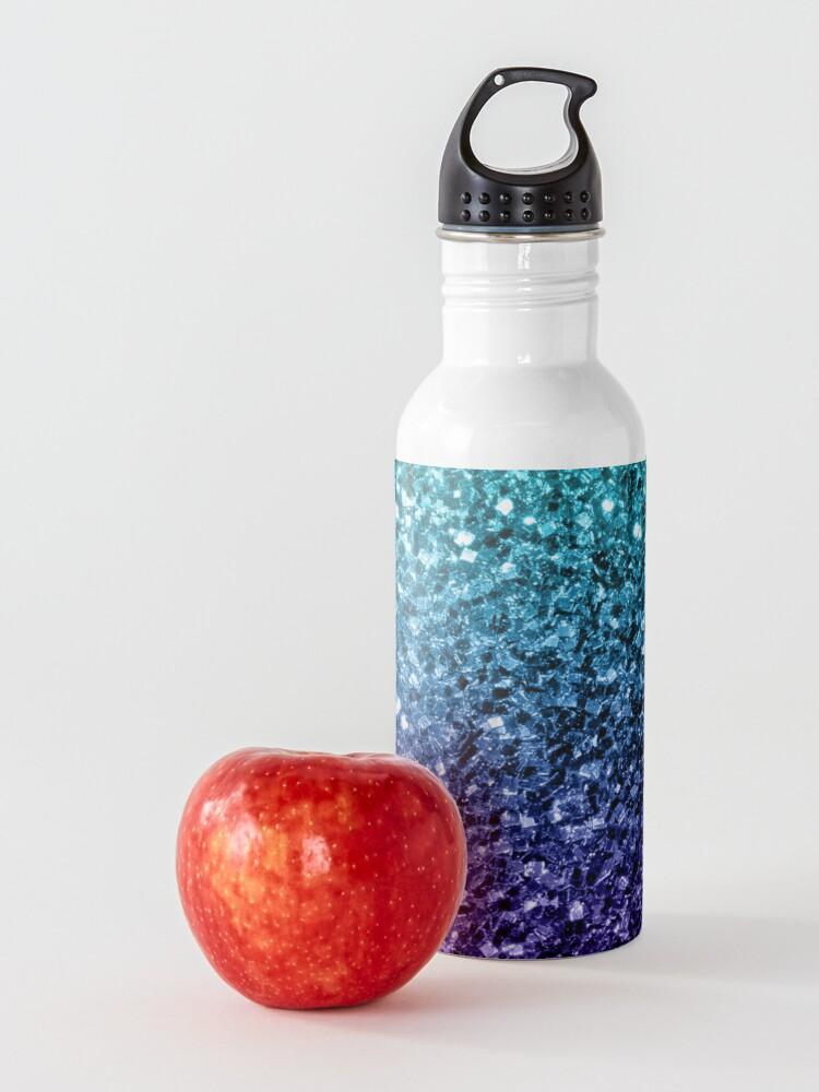 Alternative Ansicht von Wunderschönes Aqua Blue Ombre Glitter funkelt Trinkflasche