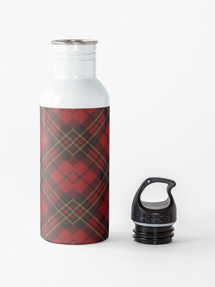 Alternate view of Adorable Red Christmas tartan pattern Water Bottle