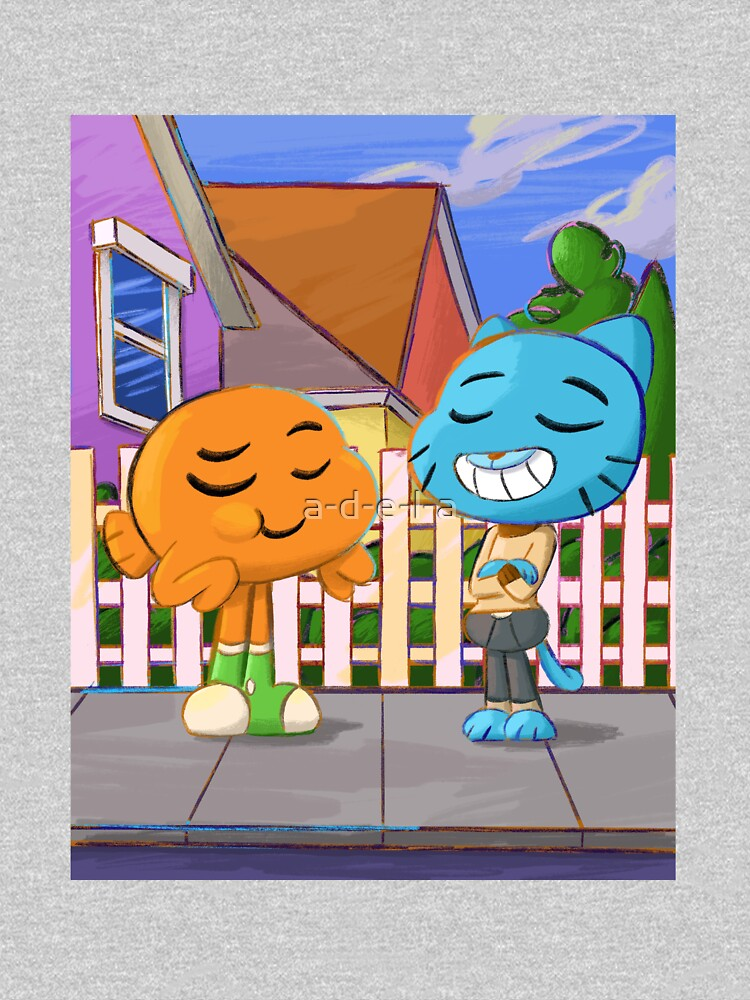 Gumball and Darwin with background by a-d-e-l-a
