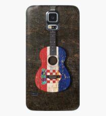 Aged and Worn Croatian Acoustic Guitar Hülle & Klebefolie für Samsung Galaxy